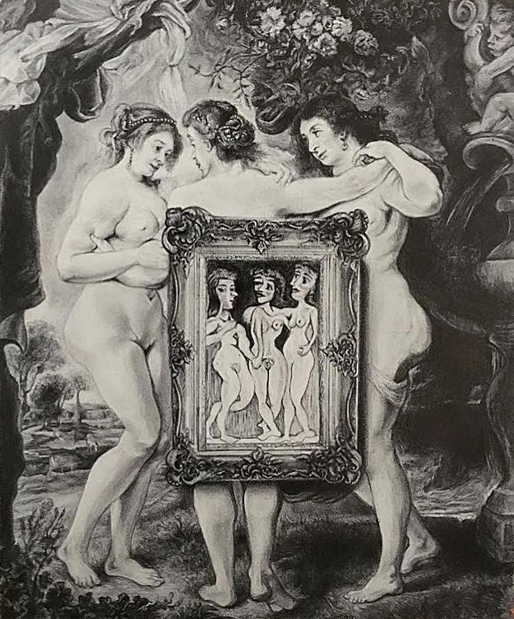 Three Graces - Rubens vs Picasso