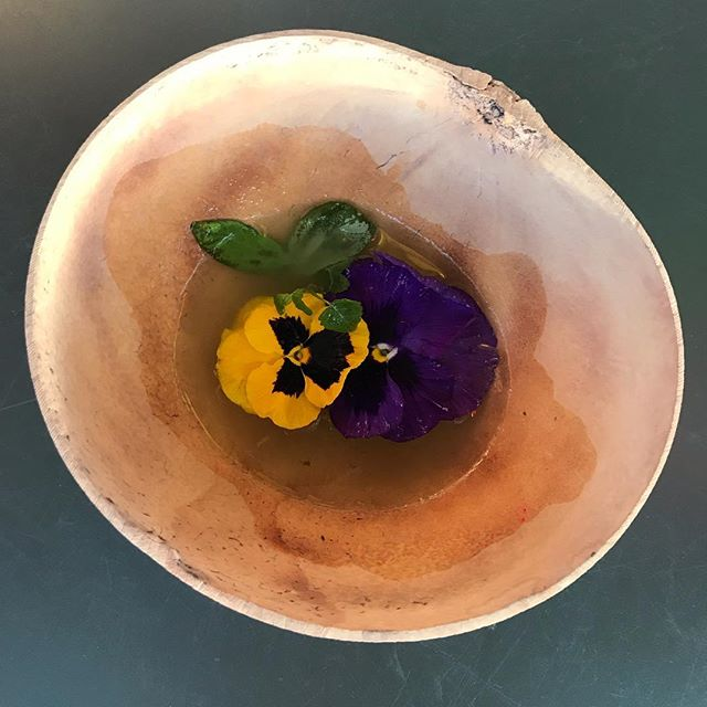 One of @humbertoagaray 's drinks for the night: His little floating mezcal garden... Holidays by Bert! #BestBartendersInHouston #LoveOurStaff