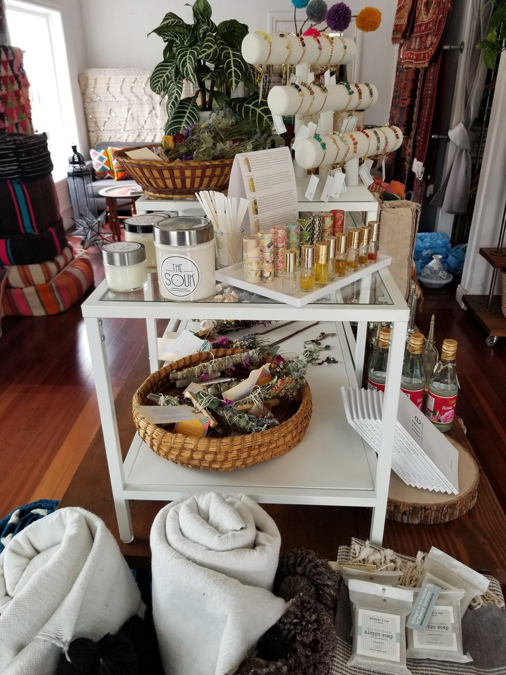 Blankets, Carpets, Jewelry and Sage Oh My!