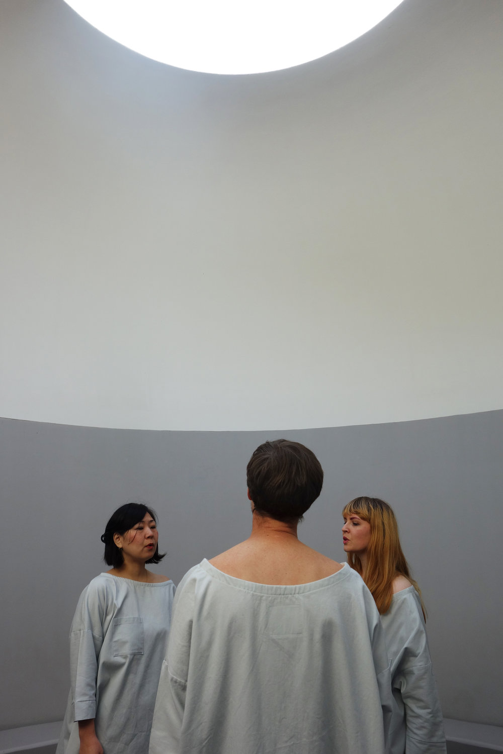 My Mouth at de Young Museum - James Turrell's Three Gems - w/ Rumi Koshino, Colter Jacobsen. Photo: Ry Rocklen. Costume 323