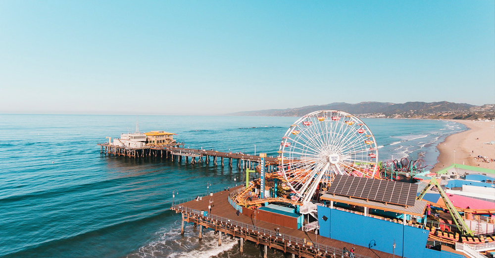 Santa Monica pier and bay