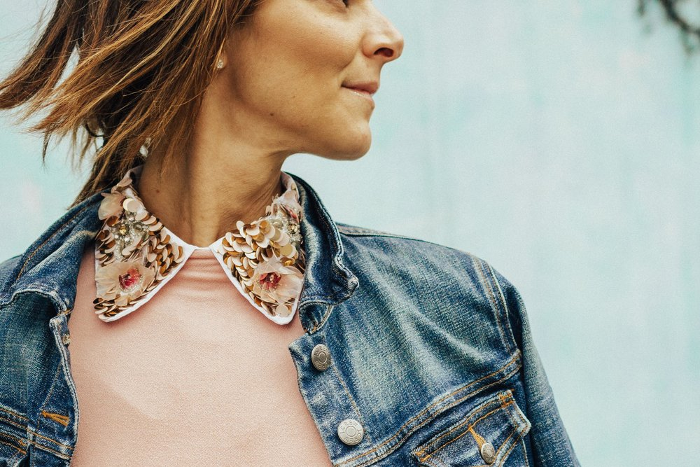 Embellished Collar Outfits – Peter Pan Collars – Bow Tie Collars – Women's Fashion – Outfits Ideas for Women - #embellishedcollar #heartandseam  www.heartandseam.com