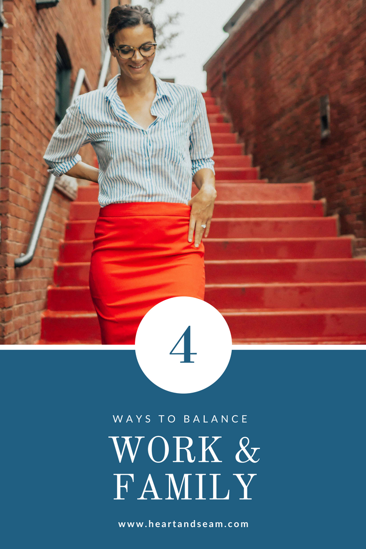Work and Family Balance – Work Wear Outfits – Workwear Outfit ideas – Work Wear- Ways to Balance Work and Family- Tips to Help Balance Work and Family Life #workwear #heartandseam www.heartandseam.com