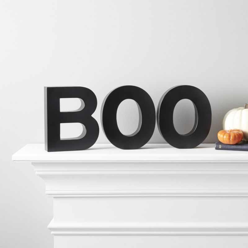 BOO LETTERS - A subtle and simple way to celebrate the season.SHOP BOO LETTERS