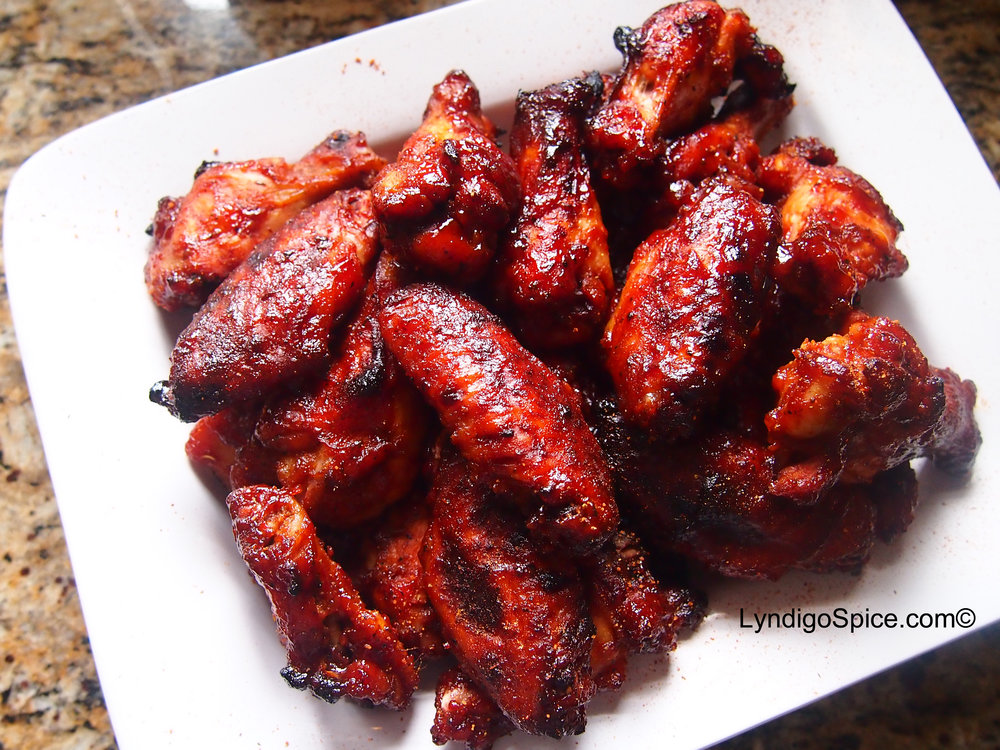 Original Spice Rubbed wings with Smoked Strawberry BBQ sauce.