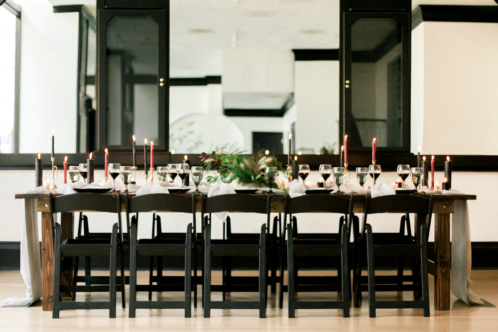 Each table comfortably seats up to 12 guests.