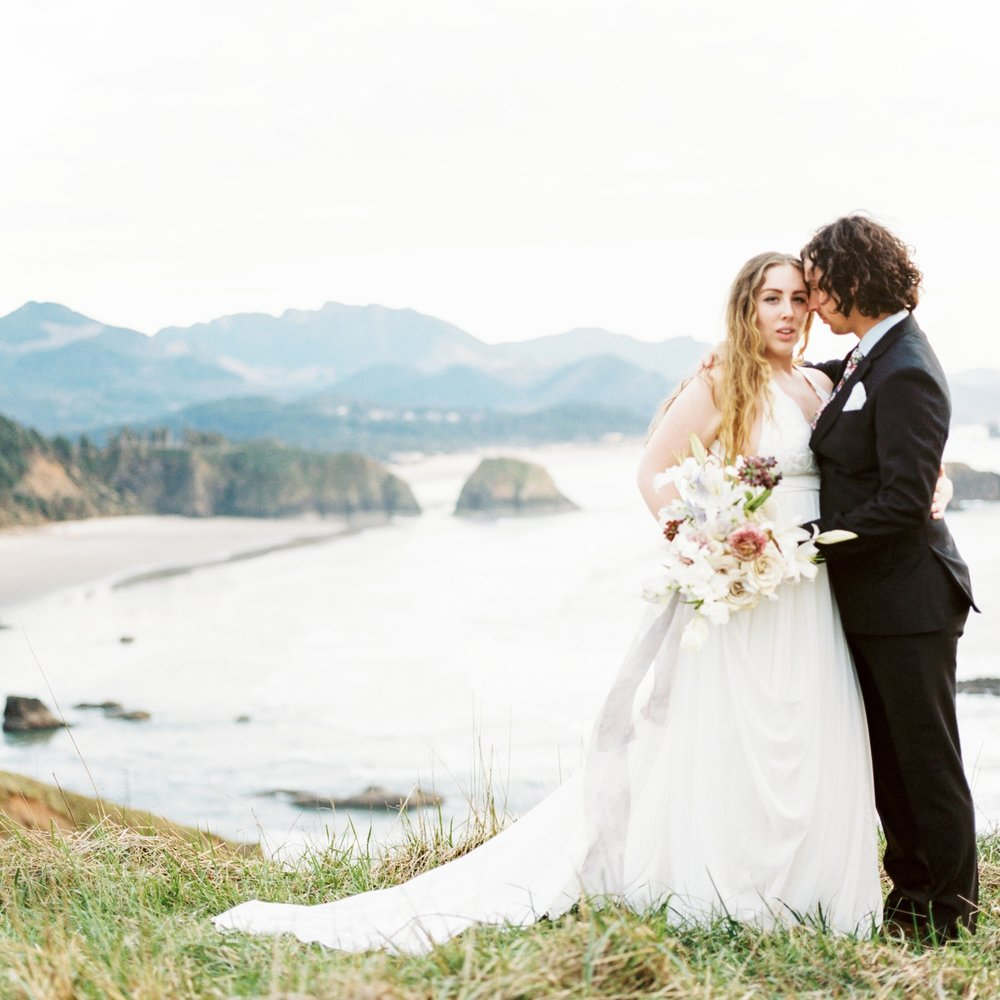Oregon Coast Elopement at Ecola State Park -