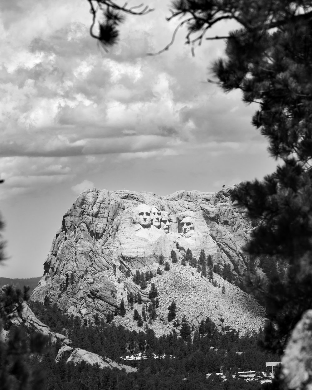 View of Mount Rushmore from Iron Mountain Rd, Black Hills, S.D.