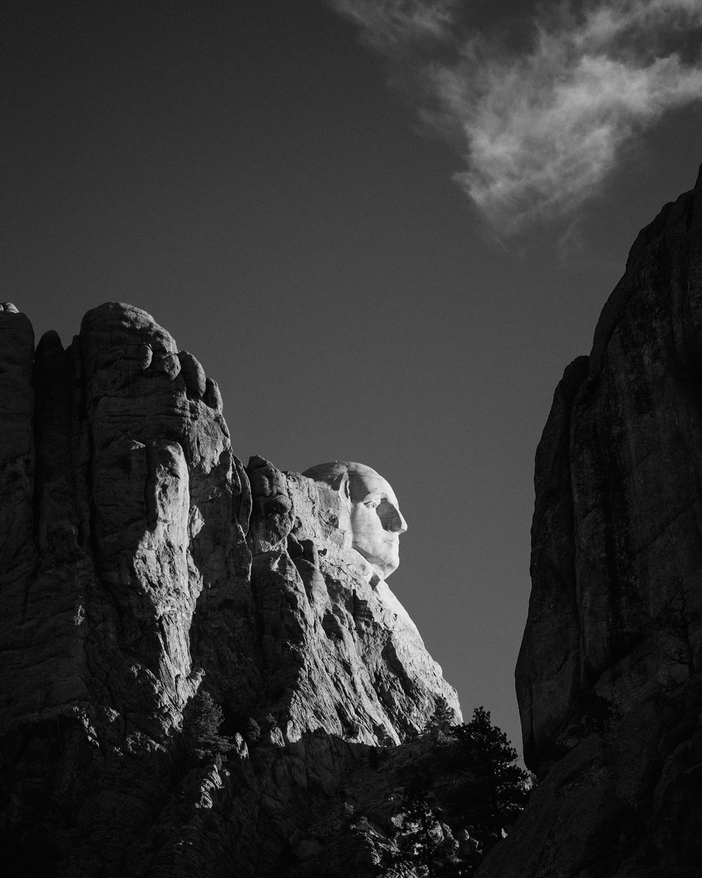 Profile View at Sunrise, Mount Rushmore, S.D.