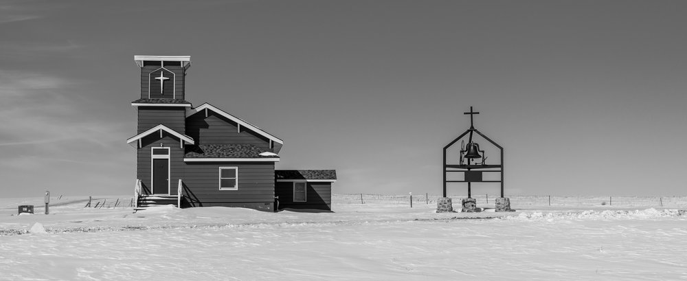 Little Brown Church on the Prairie, Hayes, S.D.