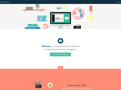 - Calm colors and flat-design style fits well.