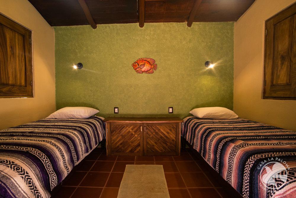 El cuarto de dos camas sencillas