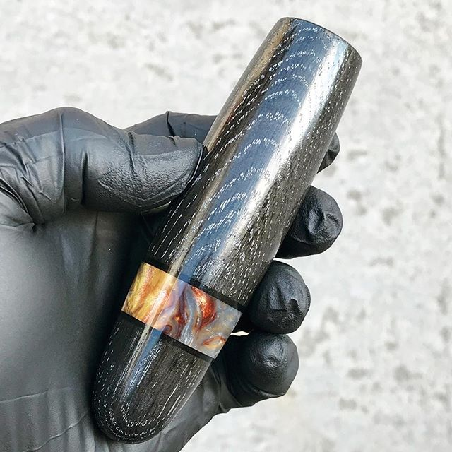 Finished up a Morta cigar pipe with a Molten Metal Acrylester ring.