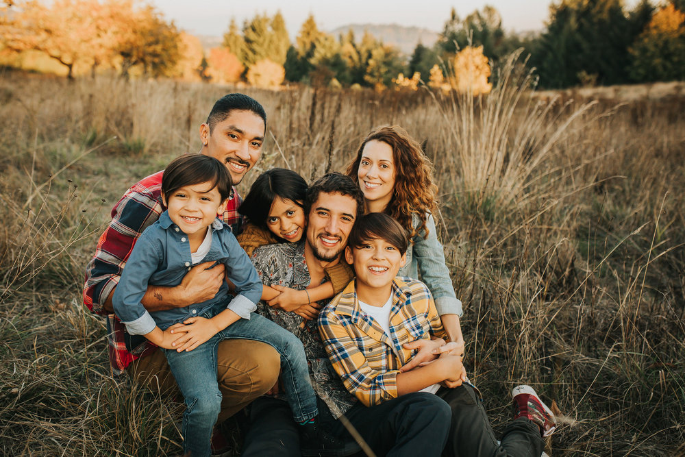 Toby & Nisha & their children. Oldest to youngest: Maleek, Cháas, Tasia & Seencha
