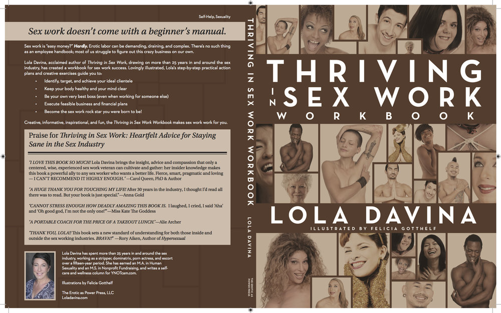 Front & Back Covers of Thriving in Sex Work Workbook; Design by Albert Ochosa.