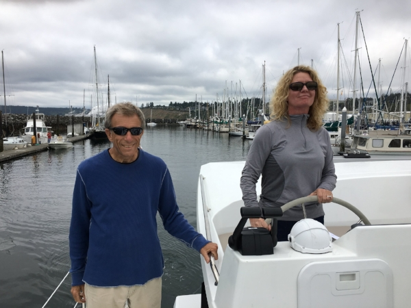 Learning to dock with Don Margraf at Boat Haven in Port Townsend