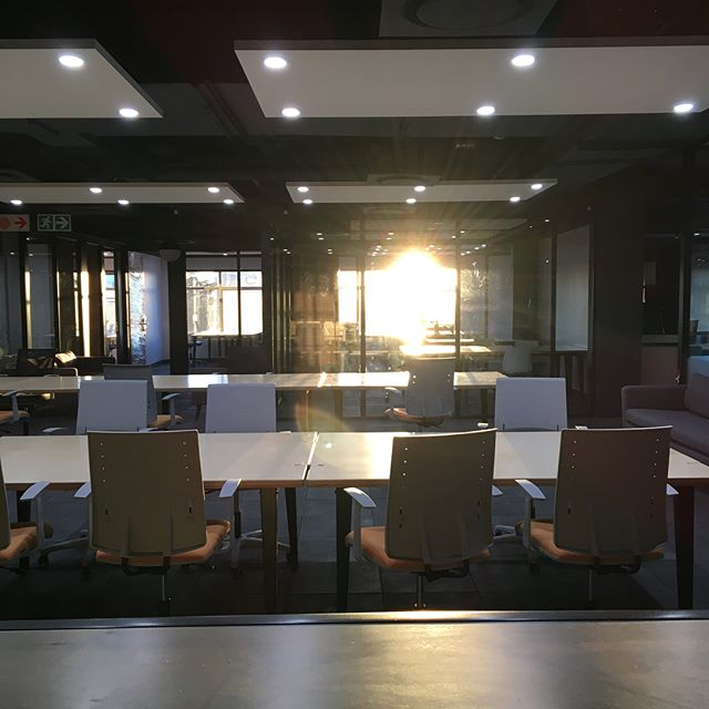 Sun up and rising! Beautiful start of the first day! . . . . #opensandton #openworkspaces #cowork #newstart #newoffice #coworkspace #johannesburg #sandton #sandtoncity #sunrise #letsdothis #office #hotdesk #dedicatedoffice