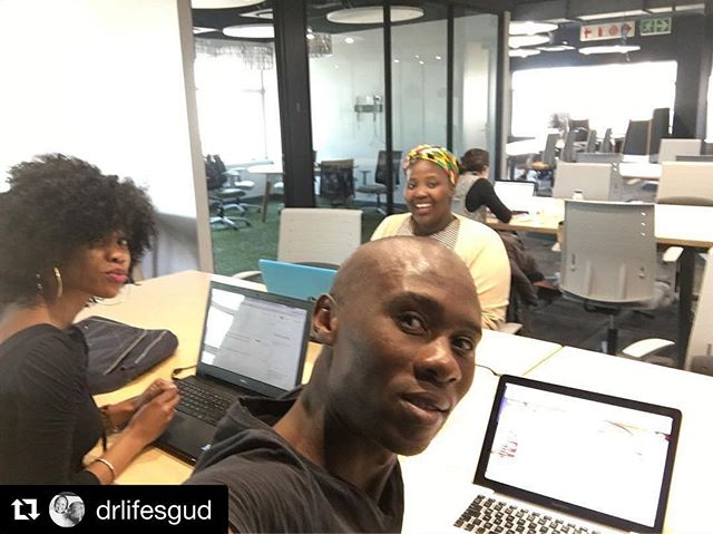 Great to have lifesgud in our community!  #Repost @drlifesgud ・・・ With the A-Team... new home @opensandton [138 West Street] ...pop in to say 👋🏾 #weareopenforbusiness #THUDLife . . #opensandton #cowork #community #hotdesk #openworkspaces #partnership #office