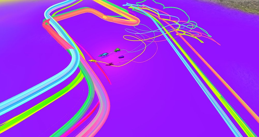 RAT_S  - The play of RAT_S takes on how we view/create other kinds of physical art with a sway, moving up close and then further back, to have a more immersed and full experience with exploration. Playing in between stylization and abstraction, the game focuses on line, color and perception for a surreal experience. RAT_S meets the player half-way allowing them to analyze and interact freely within the set limitations.