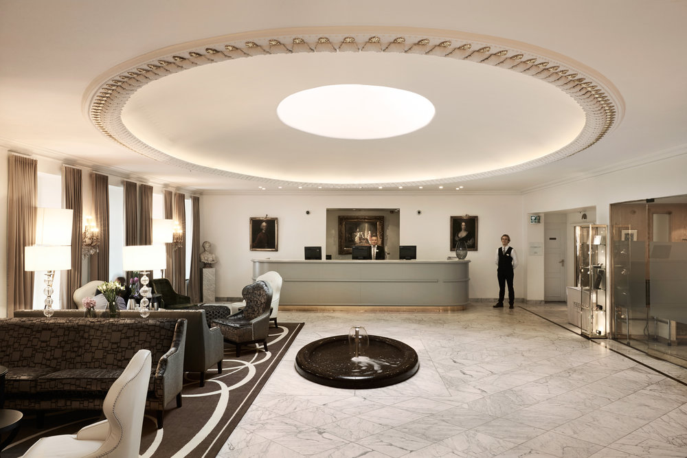 The lobby of Hotel Phoenix Copenhagen - photo is courtesy of  the hotel's press kit