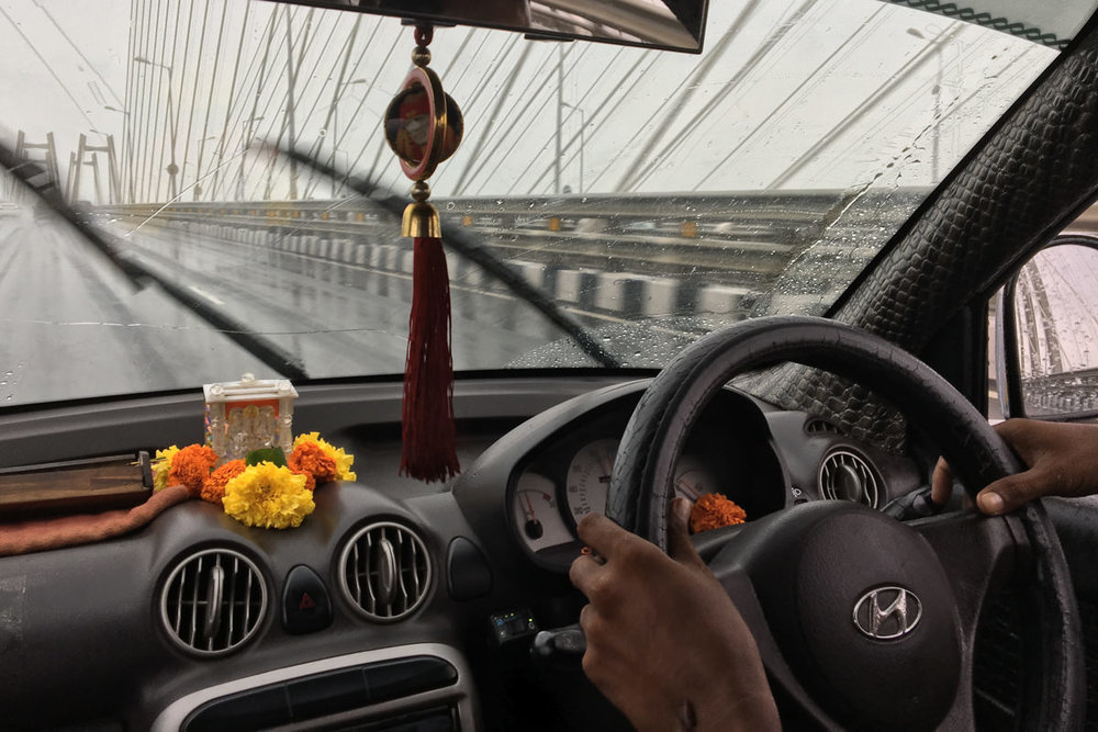 Monsoon hits the Sea-Link, October 2016