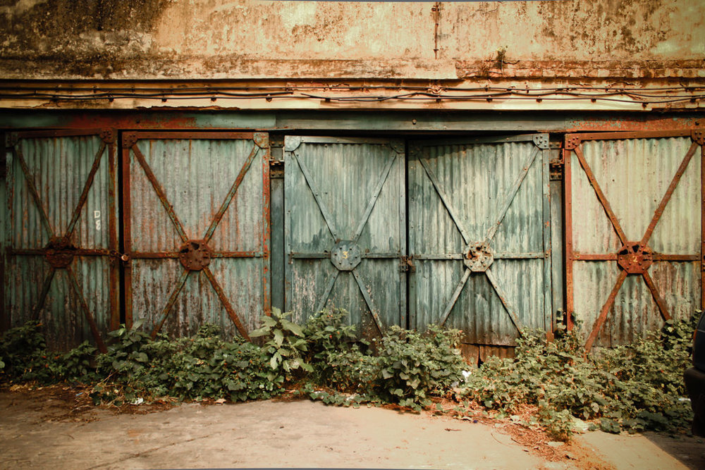 Old garages, Kolkata, November 2010