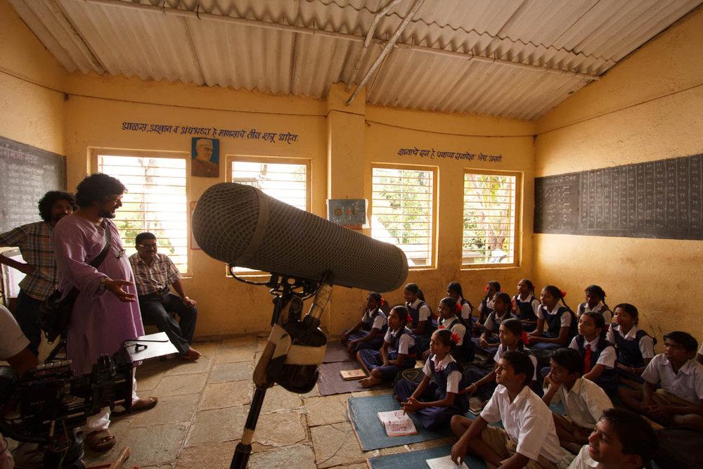 Directing school children