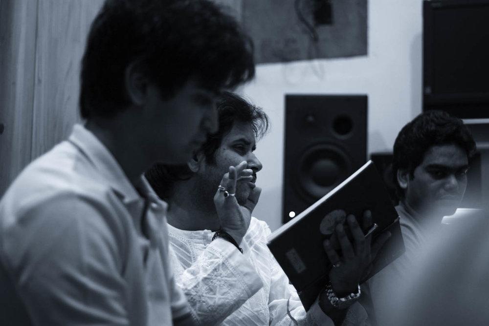 Javed Ali practicing a song for the film Kaafiron Ki Namaaz