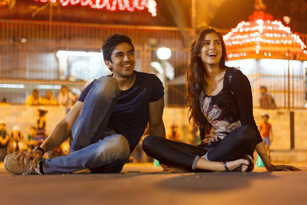 Saqib Saleem and Pragya Yadav joke on the set of Hawaa Hawaai