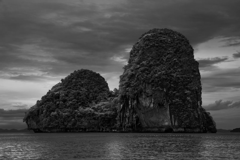 The sea cliffs off Ao Phra Nang beach uncannily resemble a brooding assassins's head scarf from #AssassinsCreed .