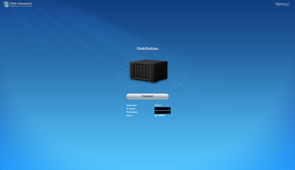 Connect to your Synology DiskStation
