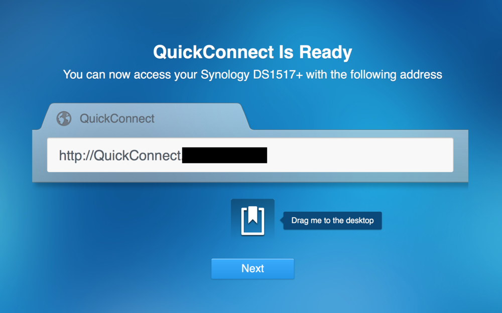 QuickConnect URL to access your DiskStation from the Internet