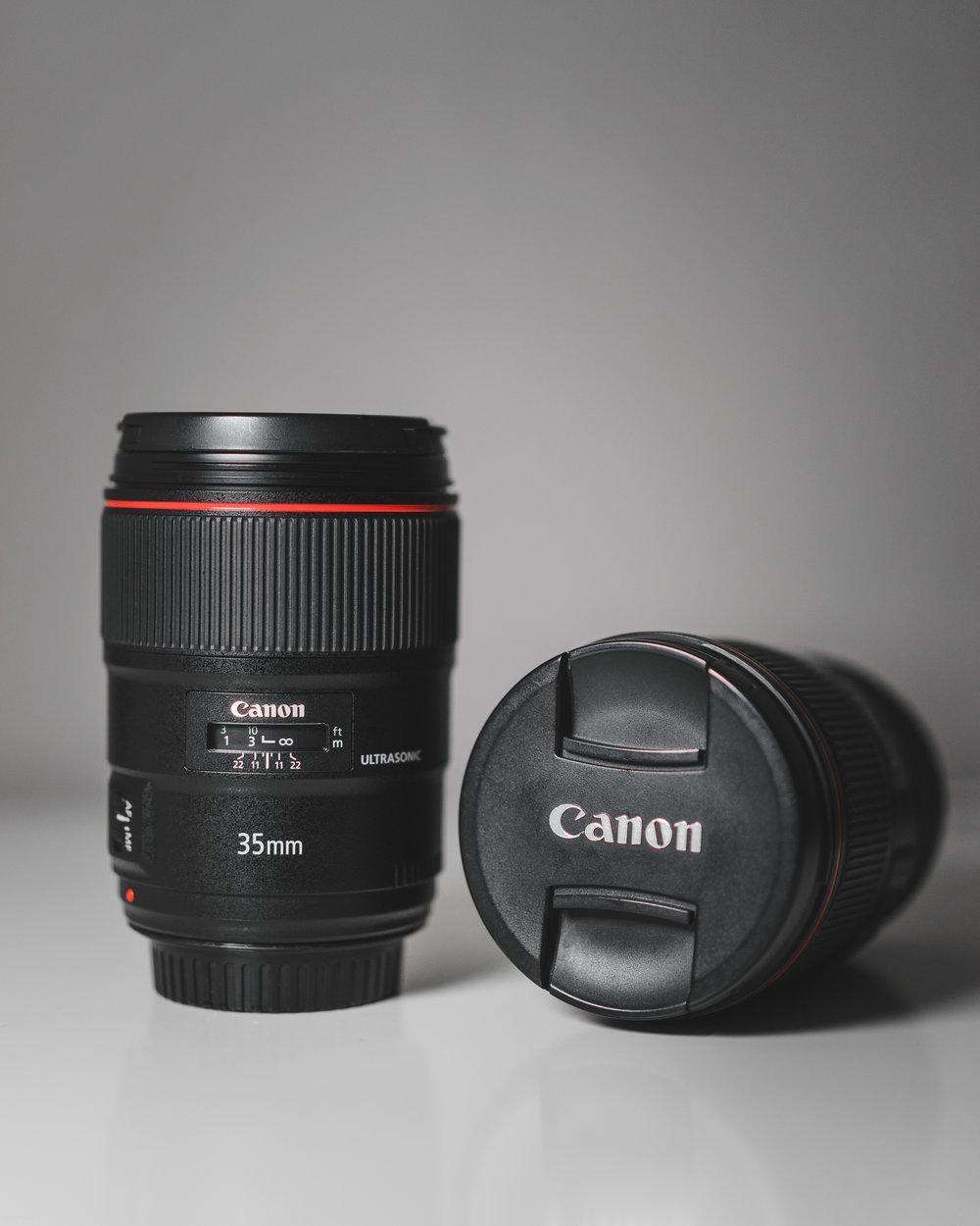 Canon EF 35 f1.4 L II & EF 16-35 f4 L IS