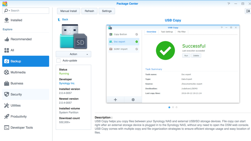 Synology USB Copy