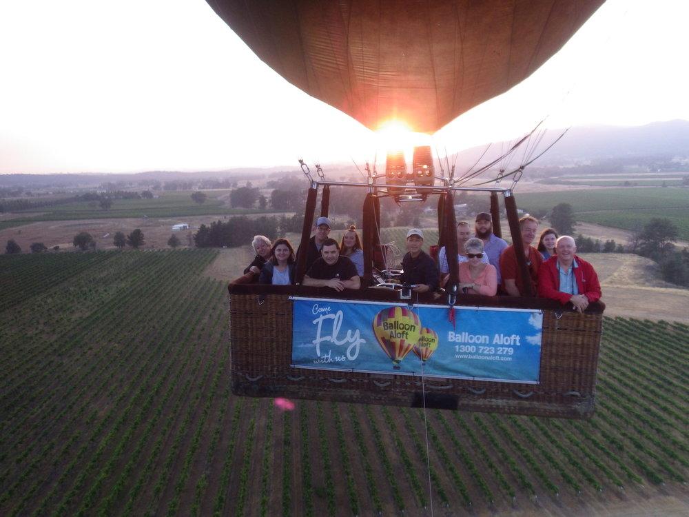 Sunrise at Blue Wren Mudgee with Balloons Aloft.JPG