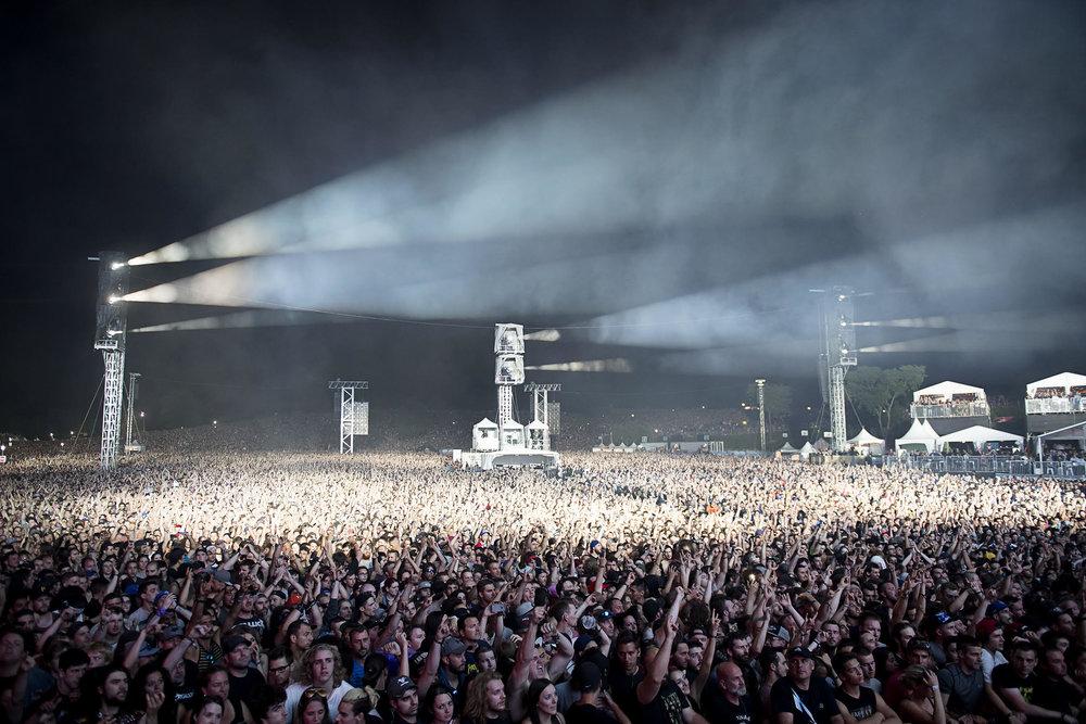 Metallica Crowd Quebec