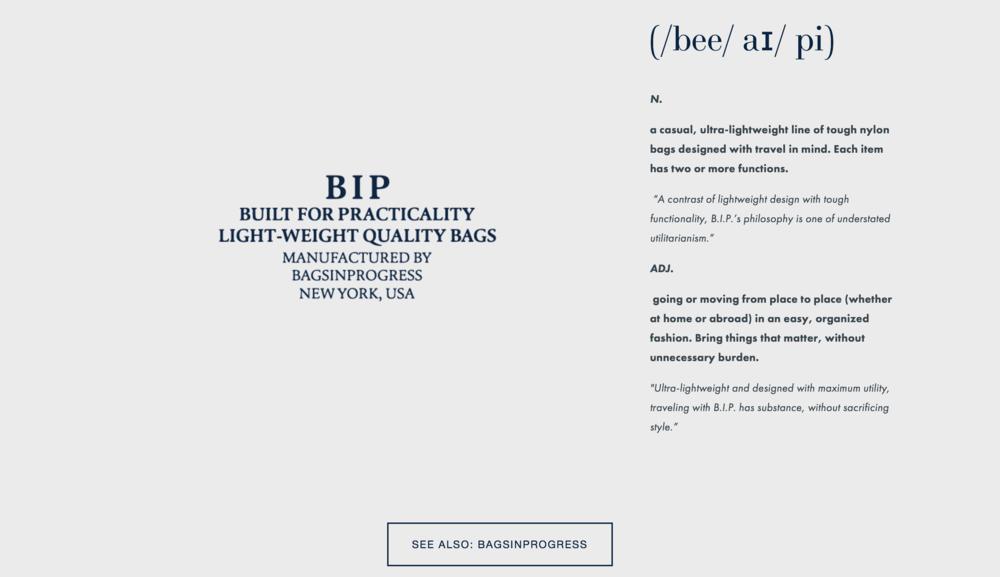 BIP Homepage
