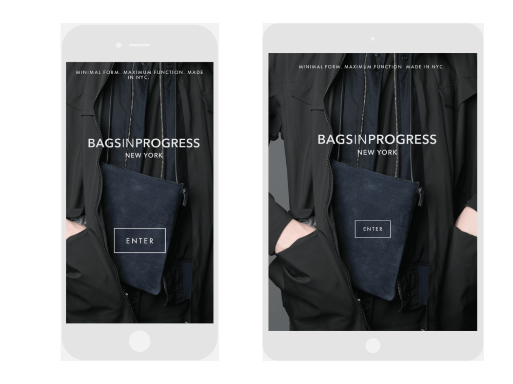 BAGSINPROGRESS Mobile & Tablet View