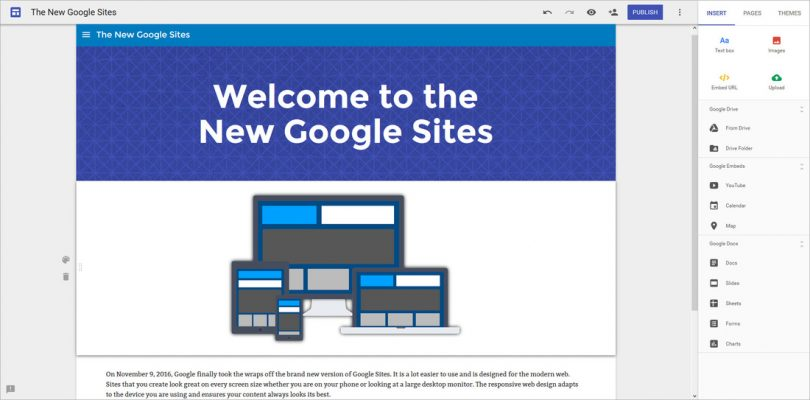 Before public profile & promotion additions such as a custom favicon, Google Sites was reserved for internal team collaboration & a easy-access Intranet location.  (Image source link: https://www.tcea.org/blog/google-sites-makers/)