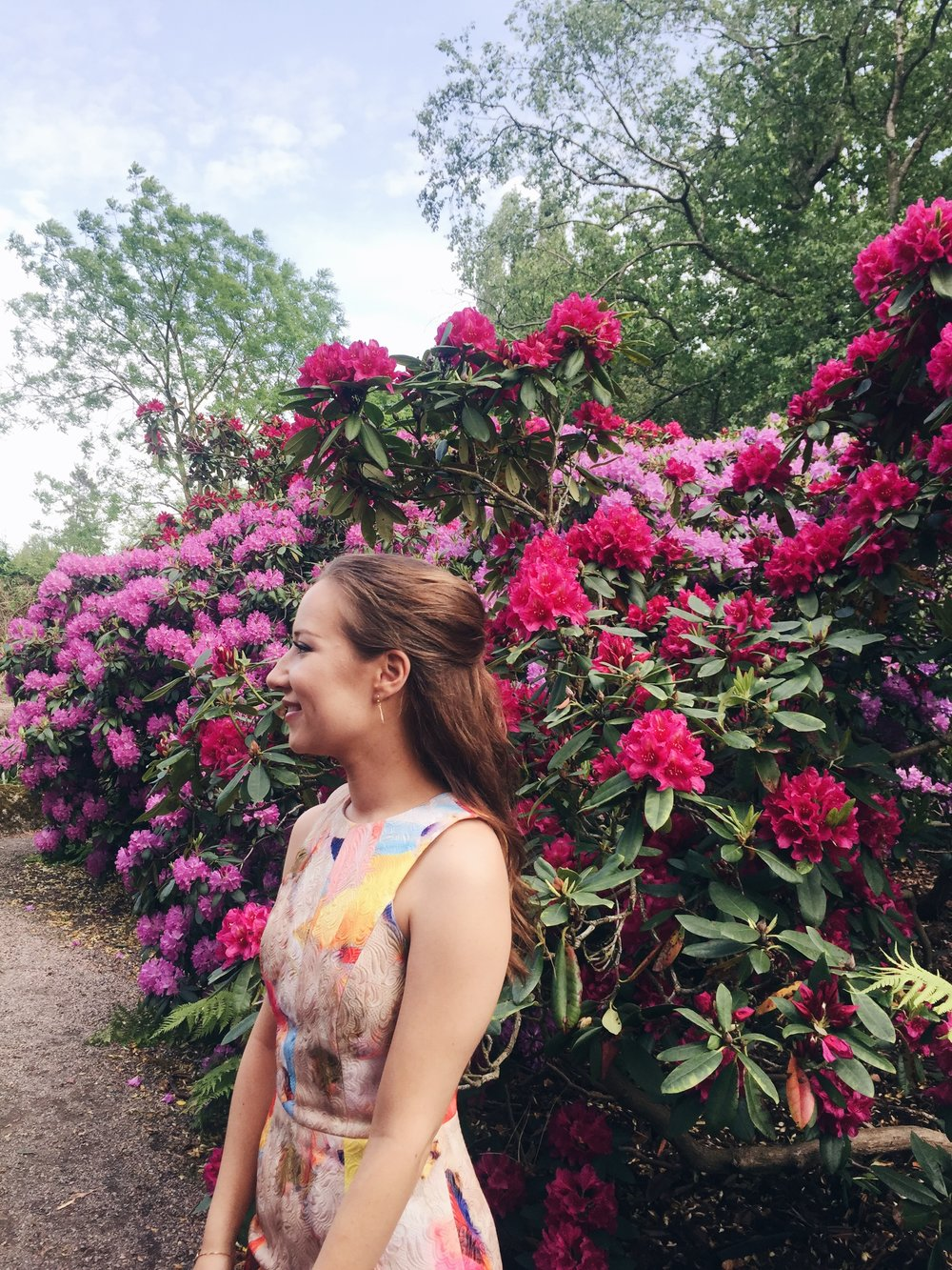 Vilma Komulainen in Botaniska Trädgården, Lund