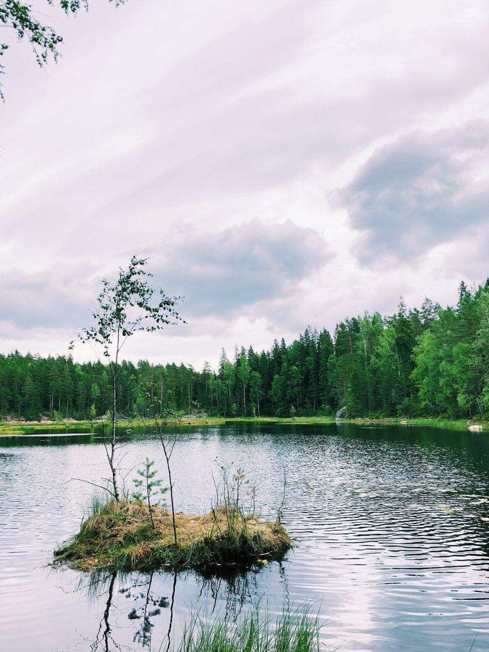 Haukkalampi, Nuuksion kansallispuisto, Suomi