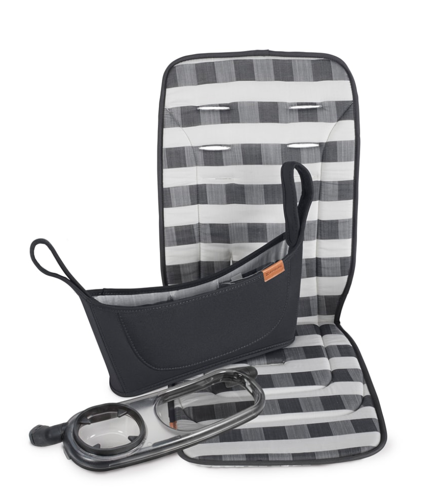 Vista & Cruz Accessory set for Uppa Baby Stroller (includes organizer for mommy & daddy, snack tray and seat cover.