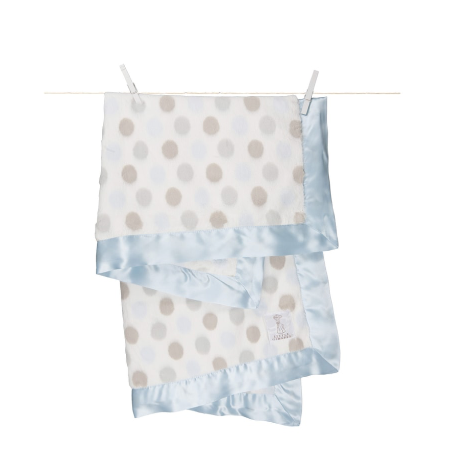 The softest blanket in the world!! i love buying this for friends when they have kids because it is so soft and classy. Its usually pretty expensive so great time to grab it!