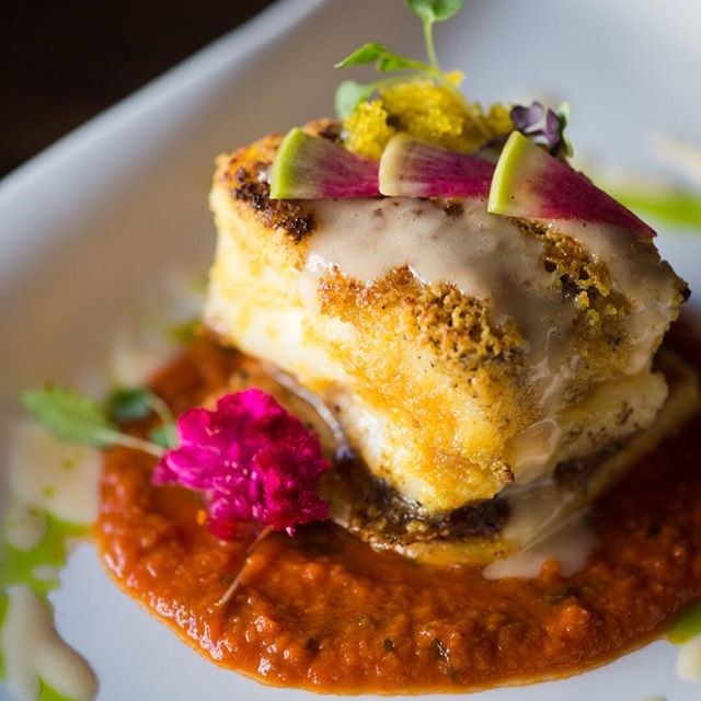 The Conche serves up beautiful and unique dishes, such as this Citrus Crusted Cod, a lightly crunchy fillet of cod atop a tower of polenta, with fresh marinara underneath, topped with Yuzu Tobiko. Shot for @PoshSeven - check out the full article on their website! Bon appetite!  #thelockandco #northernvirginia #foodie #foodielife #foodporn #foodphotography #omnomnom #chocolate #theconche #loudouncountyphotographer #northernvirginiaphotographer #loudouncounty