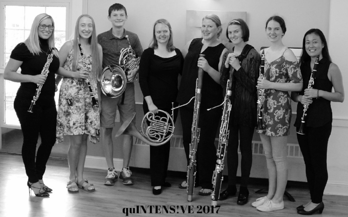 Students and Teachers at quINTENSIVE Chamber Music Camp 2017