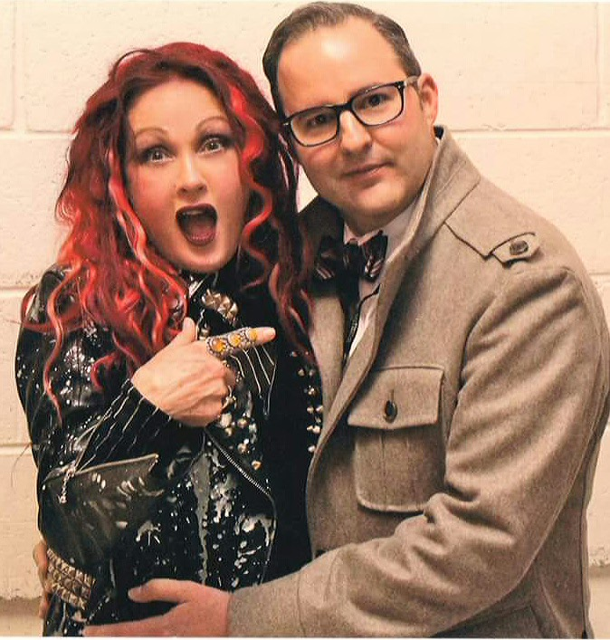 Keith and friend and True Colors Fund founder, Cyndi Lauper.
