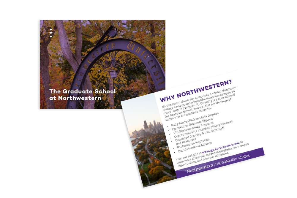 Promotional postcard for general graduate fairs