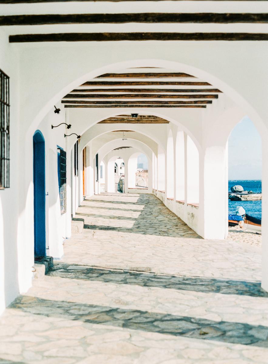 Calella de Palafrugell, Nothern Costa Brava, The white Arcades