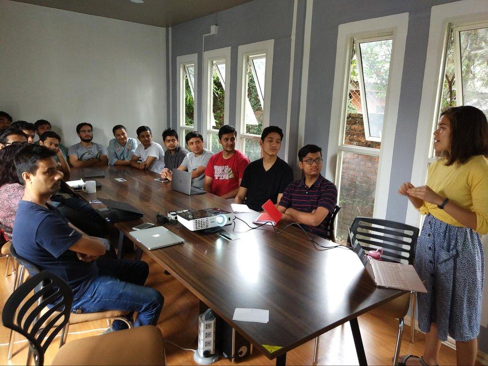 Presenting at Kathmandu Living Labs – July 2018