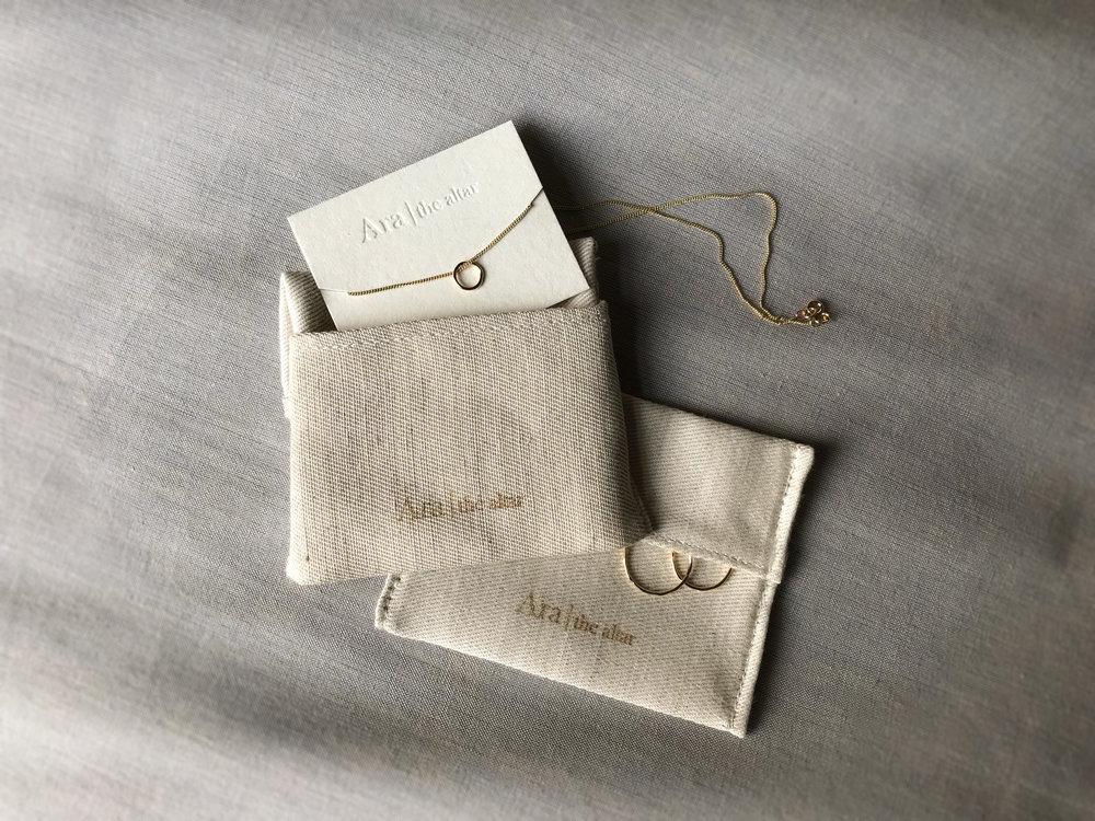 Ara the altar linen organic cotton packaging